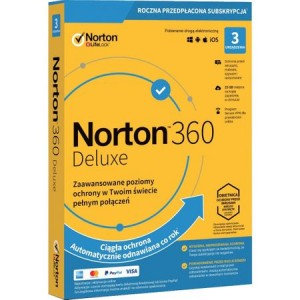NORTON 360 DELUXE 1 USER 3 DEVICE EDU